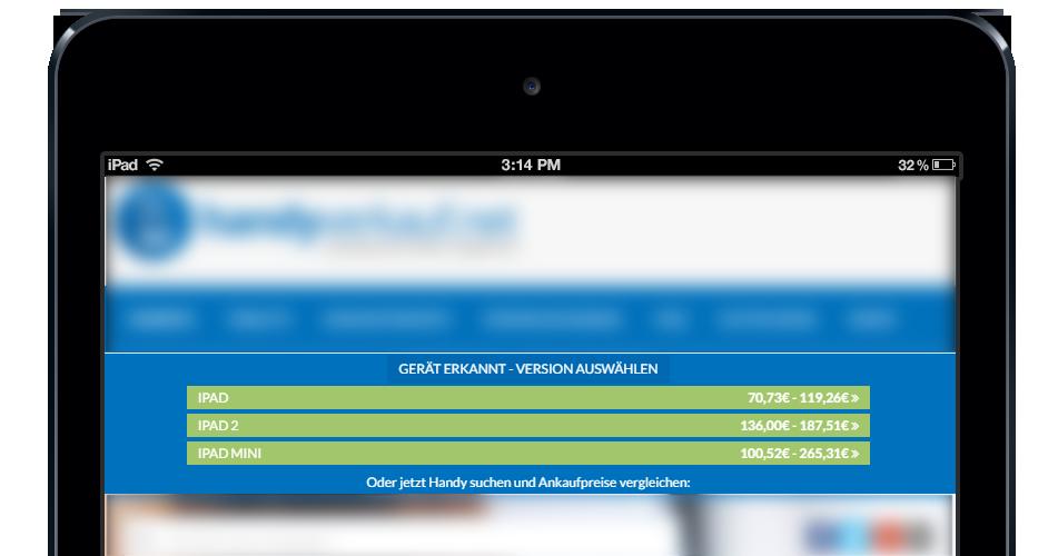 Beispiel-Darstellung der iPad-Geräteerkennung