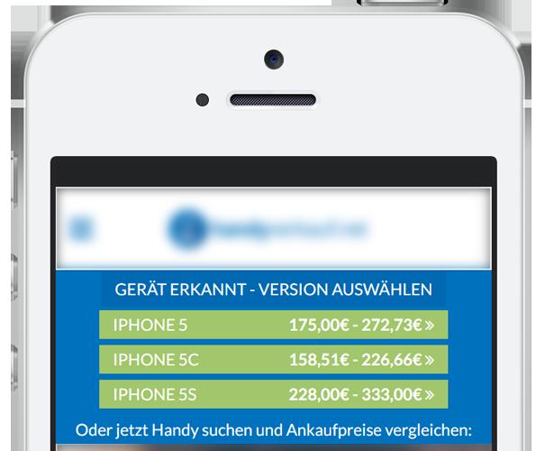 Beispiel-Darstellung der iPhone-Geräteerkennung